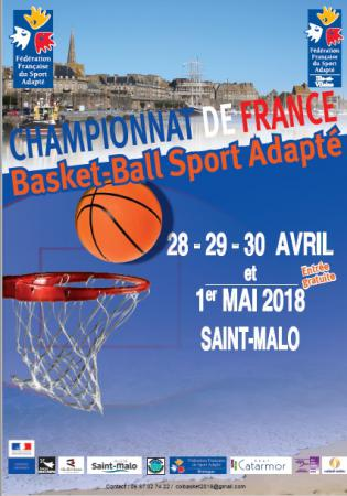 Championnat de France de Basket Ball Sport Adapté du 28/04 au 01/05/2018